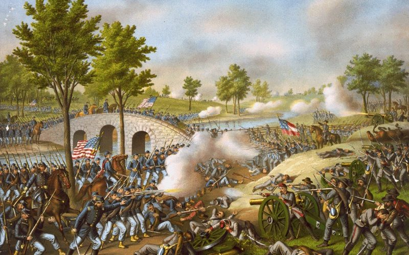 Painting of the Battle of Antietam