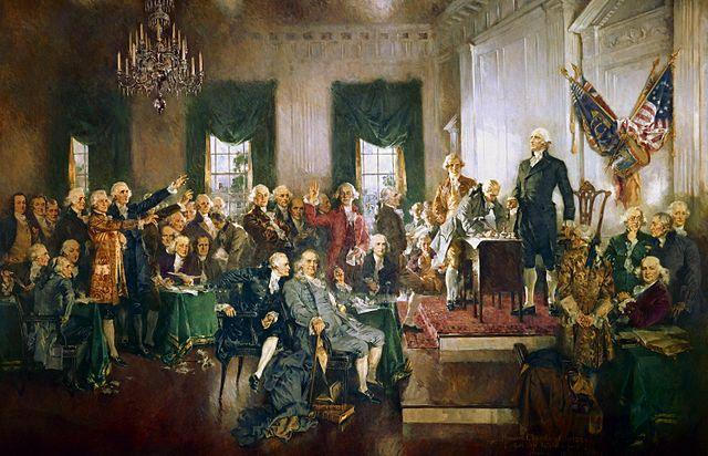 Painting of the Constitutional Convention in 1787