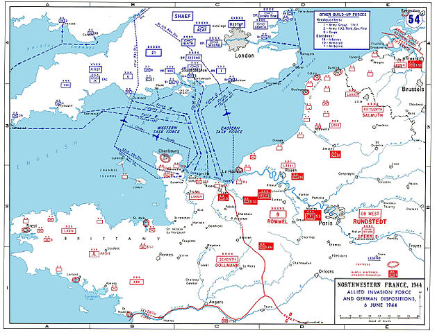 Allied D-Day invasion map