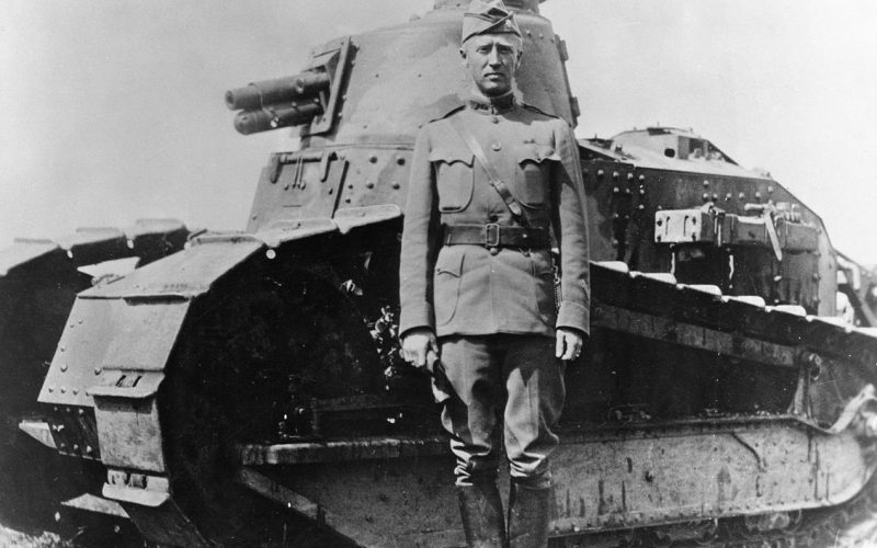 George S Patton in France in 1918
