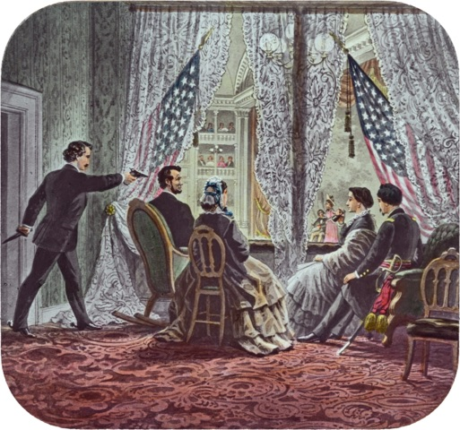 Rendering of the Lincoln assassination