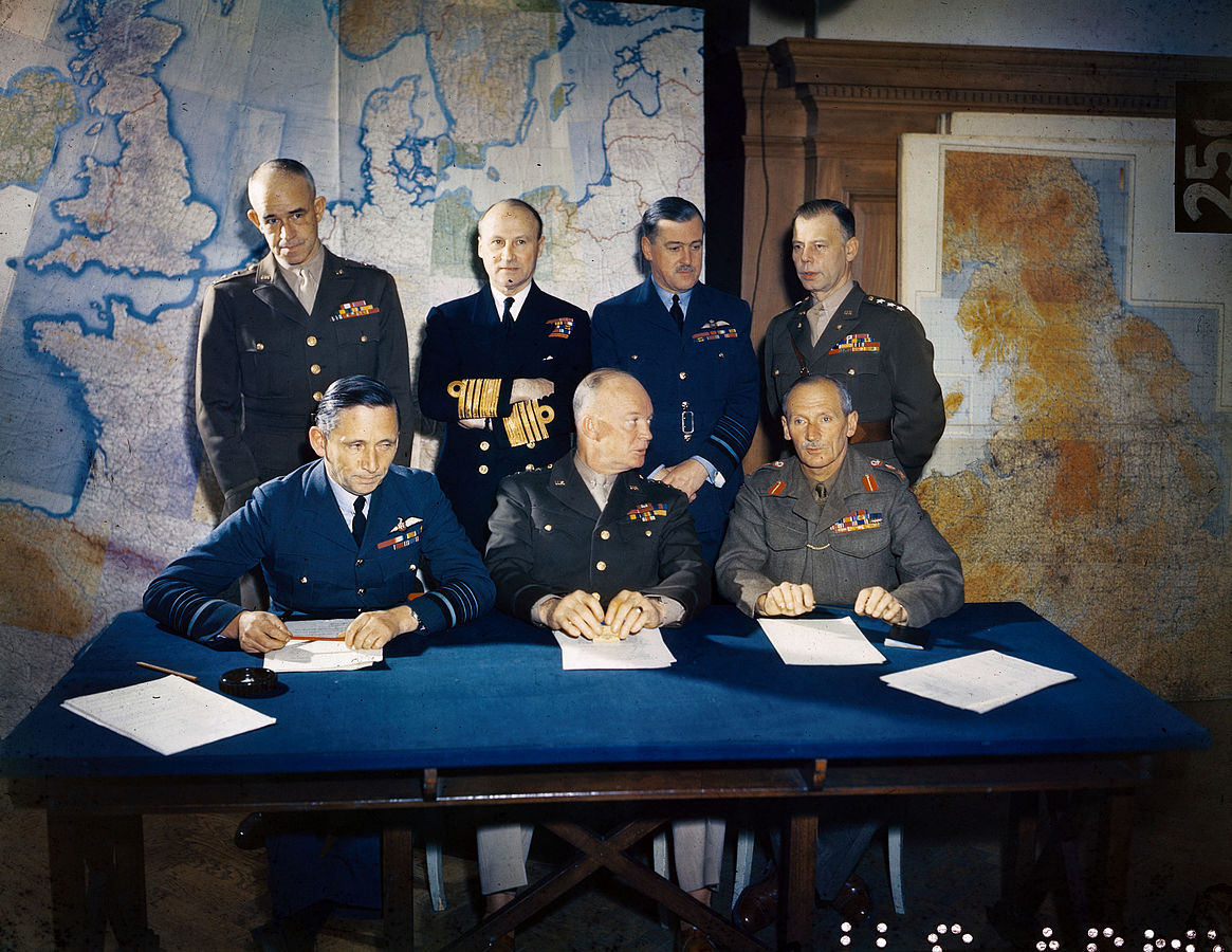 The Allied Supreme Command planning D-Day
