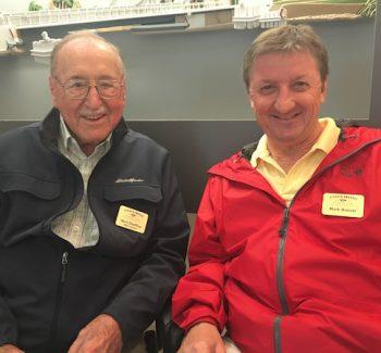 WWII veteran Mort Sheffloe with Mark Bielski