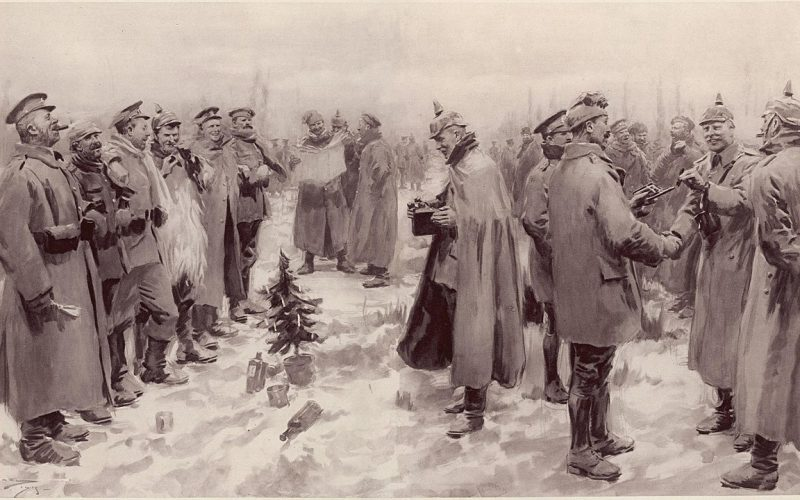 Rendering of the WWI Christmas Truce