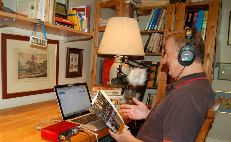 Mark Bielski in his podcast studio