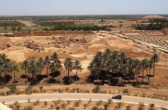Ruins of Babylon in Iraq