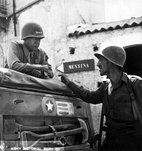 General Patton in Brolo, Italy