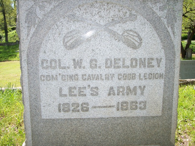 Delaney's grave in Athens, GA