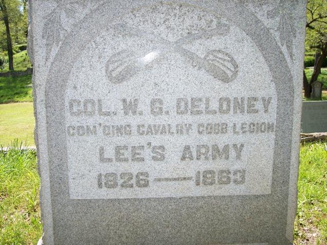Delaney's grave in Athens, GA