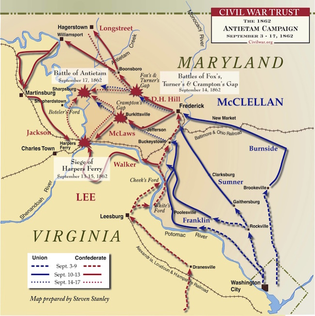 Antietam Campaign map