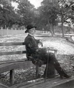Jefferson Davis at his home, c. 1885