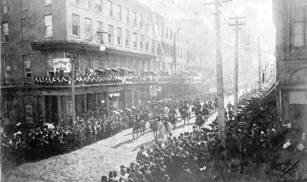 Jefferson David Funeral Procession in New Orleans in 1889