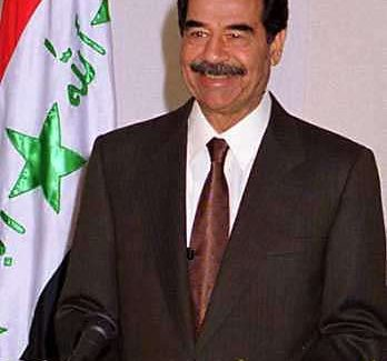 Saddam addresses state television, in January 2001