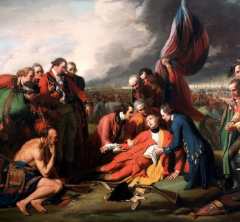 """""""The Death of General Wolfe"""" by Benjamin West"""