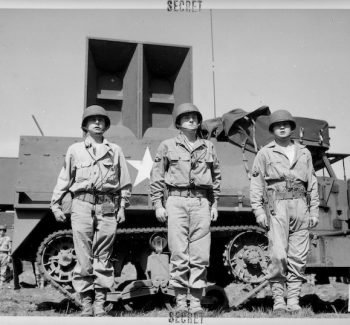 Ghost Army battalion with an inflatable tank