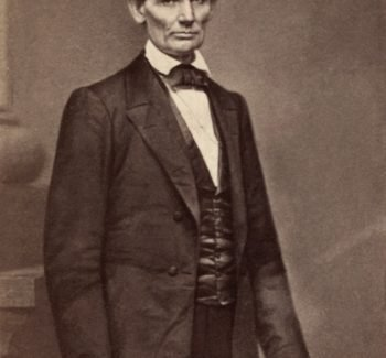 Abraham Lincoln (1860) by Mathew Brady, taken the day of the Cooper Union speech