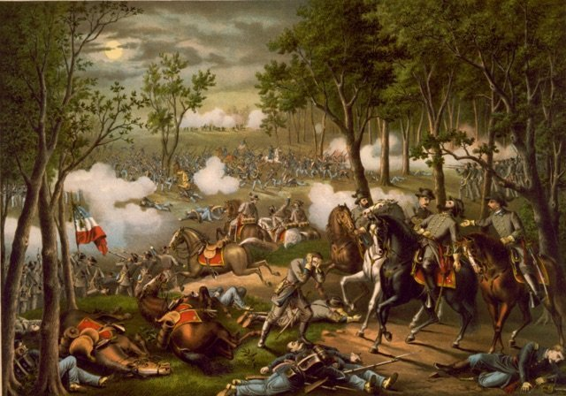Print of the Battle of Chancellorsville