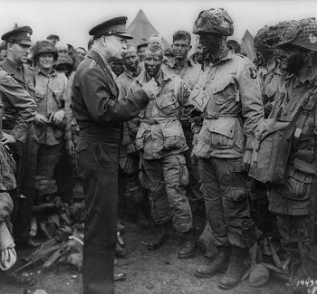 Eisenhower talking to D-Day paratroopers