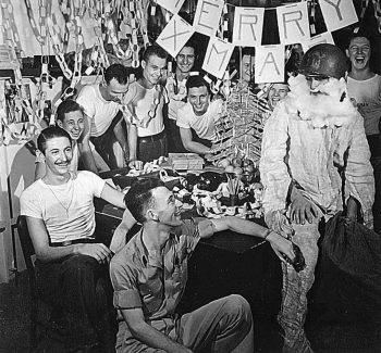 WWII soldiers at Christmas
