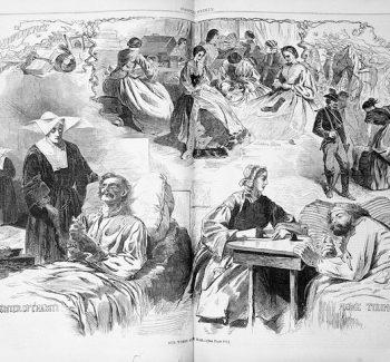Illustration of Civil War nurses