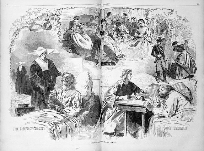 Illustration of Civil War nurses