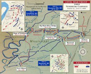 Vicksburg Campaign Map