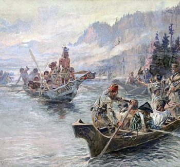 Lewis and Clark expedition painting